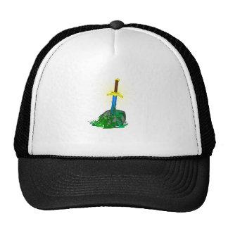tree sword knife trucker hat