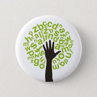 Tree the alphabet 2 inch round button