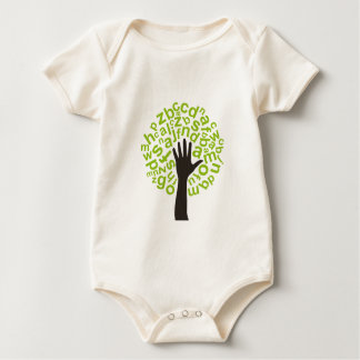 Tree the alphabet baby bodysuit