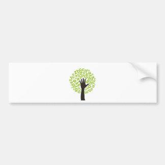 Tree the alphabet bumper sticker