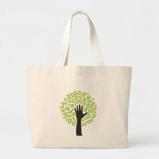 Tree the alphabet large tote bag