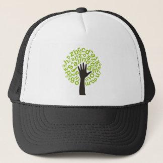 Tree the alphabet trucker hat