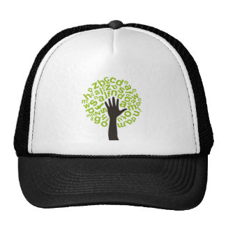 Tree the alphabet trucker hat
