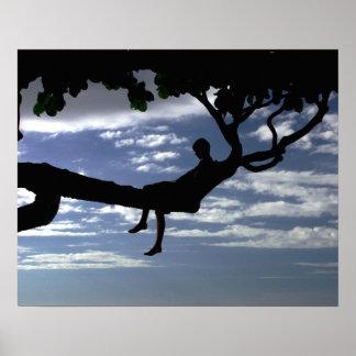 Tree Thinker Boy Poster