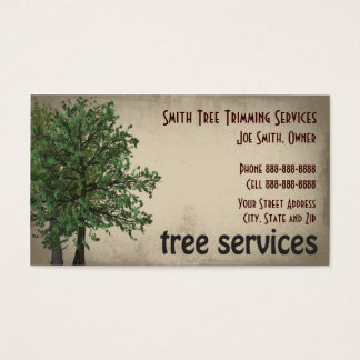 Tree Service Business Cards and Business Card Templates