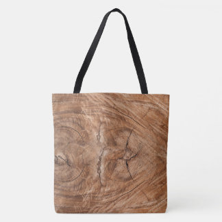 Tree Truck Cross-Section Tote Bag