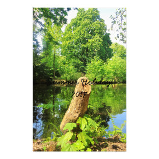 Tree Trunk Nature Photography Lake Park Stationery