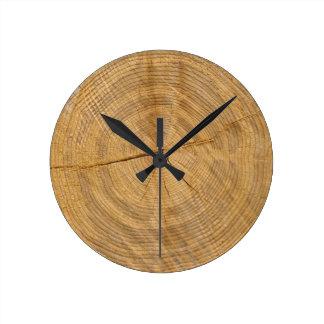 tree trunk round clock