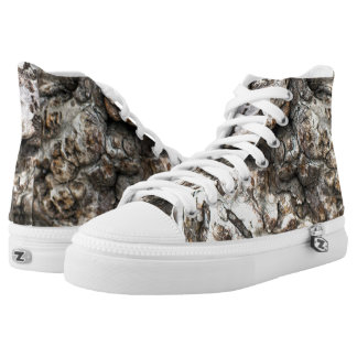 Tree trunk's knot high tops
