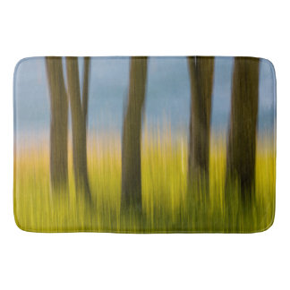 Tree Trunks and Grass | San Juan Islands, WA Bath Mat