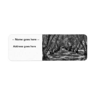 Tree Tunnel Return Address Label