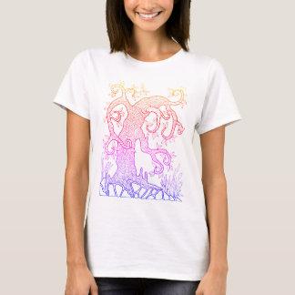 Tree Two Line Art Design T-Shirt