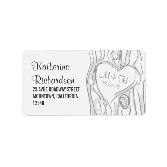 tree wedding address labels