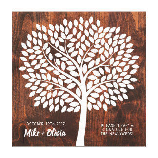 Tree Wedding Guest Book Alternative | 190 Leaves