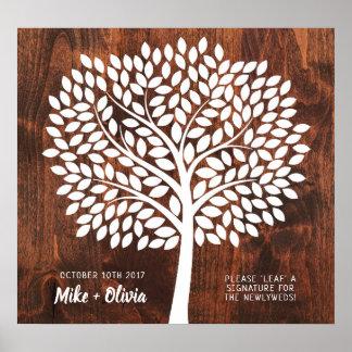 Tree Wedding Guest Book Alternative | 190 Leaves
