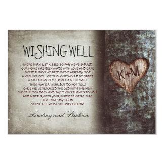 "tree wedding wishing well rustic cards 3.5"" x 5"" invitation card"