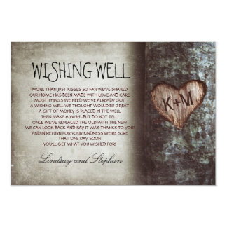 tree wedding wishing well rustic cards announcements