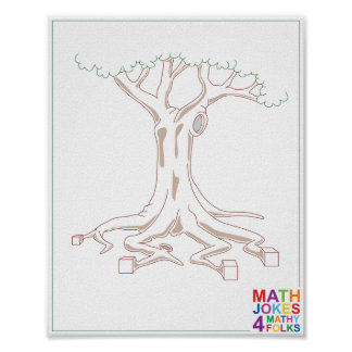 Tree with Cube Roots Poster