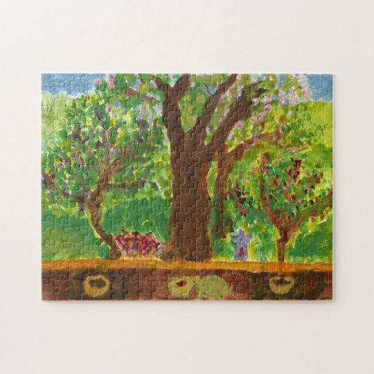 Tree with gifts and turtle jigsaw puzzle