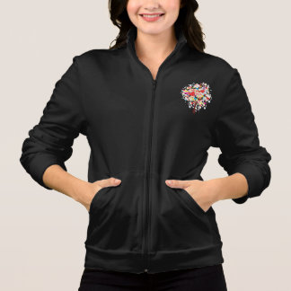 Tree With Heart Shaped Leaves Womens Jacket