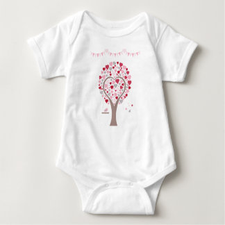 tree with hearts baby bodysuit