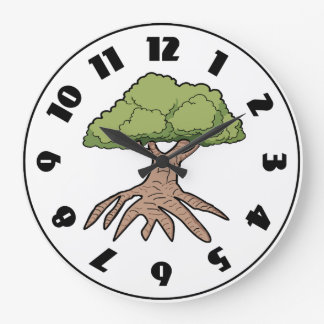 Tree With Long Roots Clock