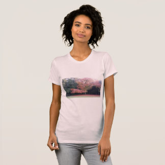 Tree with pink leaves pretty girly cute T-Shirt