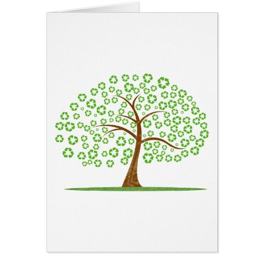 tree with recycle for leaves eco design.png card