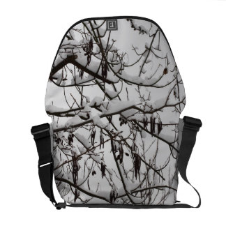 tree with snow commuter bags