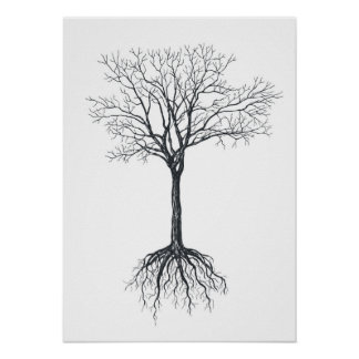 Tree without leaves poster