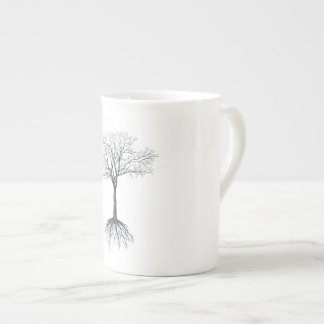 Tree without leaves tea cup