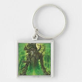 Treebeard Silver-Colored Square Keychain