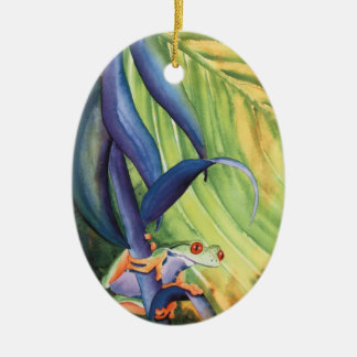 Treefrog Ceramic Ornament