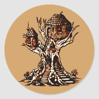 Treehouse 2 classic round sticker