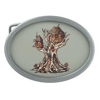 Treehouse 2 oval belt buckles