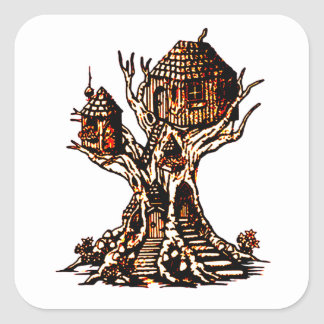 Treehouse 2 square sticker