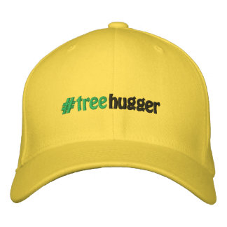 #treehugger #hashtag TreeHugger Hashtag Embroidered Hat