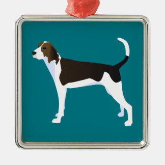 Treeing Walker Coonhound Basic Breed Customizable Metal Ornament