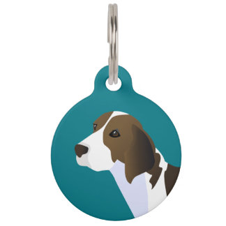 Treeing Walker Coonhound Basic Breed Customizable Pet ID Tag