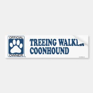 TREEING WALKER COONHOUND_Blue Bumper Sticker