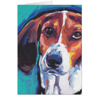treeing walker coonhound Bright Colorful Pop  Art Card