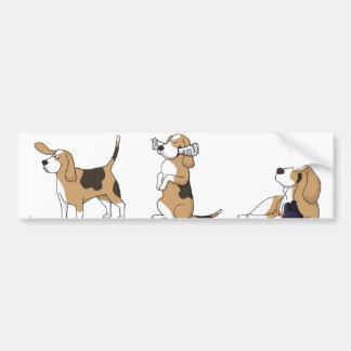 treeing walker coonhound cartoon 2 bumper sticker