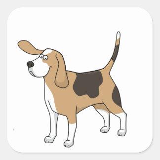treeing walker coonhound cartoon 3 square sticker