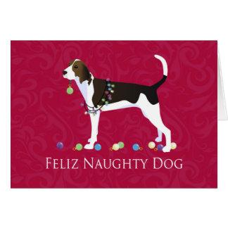Treeing Walker Coonhound Christmas Card