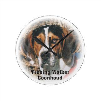 Treeing Walker Coonhound Dog Clock