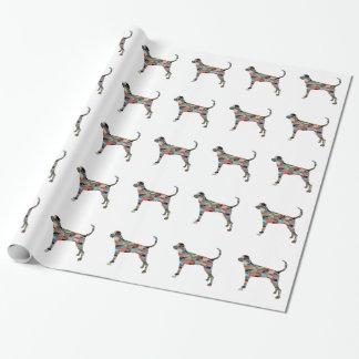 Treeing Walker Coonhound Geometric Silhouette