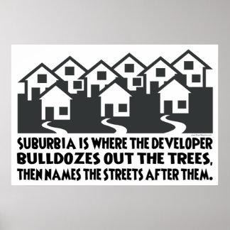 Treeless Suburbia Posters