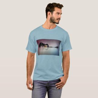Treeline fading into a Guitar Illusion Shirt