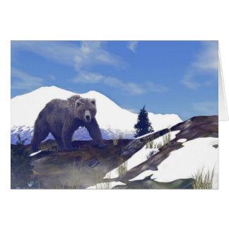 Treeline Grizzly Greeting Card