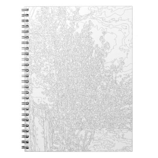 Trees: a line form spiral note book